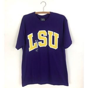 Vintage NWT LSU Purple and Yellow T-shirt Large